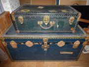 Set Überseekiste und Koffer ca