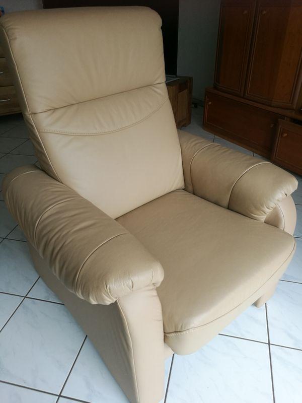 Ledersessel und Ledersofa 2-Sitzer Couch
