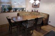 Hochwertige Eckbankgruppe Tisch Stühle Eckhänger