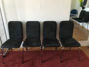 6 anthrazitfarbene Stühle