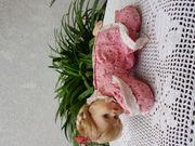 Kleine süße seltene Porzellan-Babypuppe Lara