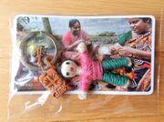 Jute-Schlüsselanhänger Caritas Bangladesh Handarbeit