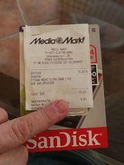 SanDisk Speicherkarte 64 GB NEU