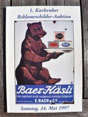 Auktionsheft der 1 Karlsruher Reklameschilder