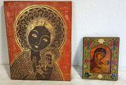 2 Ikonen Bild heilige Maria