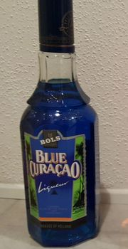 Bols Blue Curacao Flasche Vintage