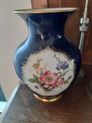 Antike Vase Kobaldblau