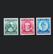 Württembergische Briefmarken z 200 Geburtstag
