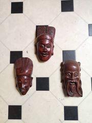 Asiatika 3 Holzmasken
