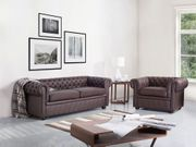 Sofa Leder braun CHESTERFIELD neu -