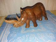 Afrikanisches geschnitztes Holz Nashorn