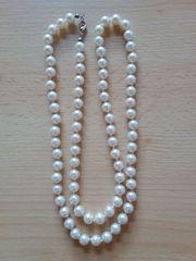 Perlenkette Champagner 75cm
