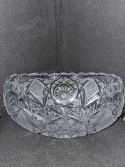 Bleikristall Schiffchen Schale