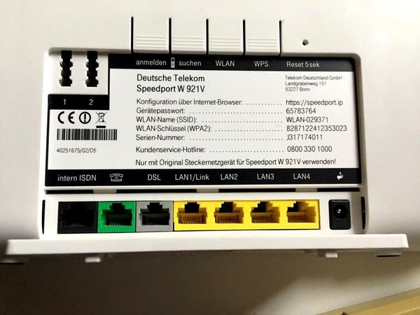Tadellos Speedport Telekom W921V in