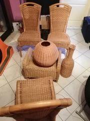 Rattan Sitzgruppe komplett leicht gebraucht