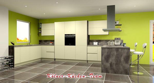 Moderne grifflose Küche 245 x