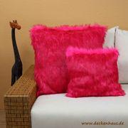 Webpelzkissen 40x40cm Pink DECKENHAUS Kuschelkissen