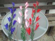 Deko Blumen rot lila rosa -