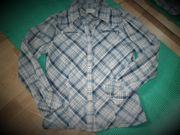 Damen Blau Weiss Kariet Hemd