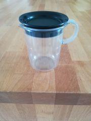 Tupperware Milchkännchen Tafelperle schwarz klar