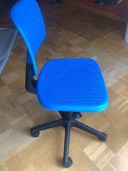 Schreibtischstuhl Bürostuhl Ikea Kinder blau