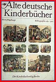 Alte deutsche Kinderbücher - Bibliographie 1500 -