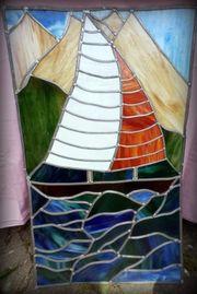Bleiglas Bleiverglasung Fensterbild Boot