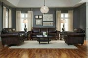 Wohnzimmer Leder SET Sofa Chair