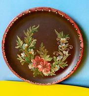 Teller Blumen Wandteller Handarbeit Tracht