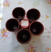 Bulgarische Keramik Pfauenauge - 6 Stück