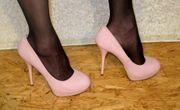 High Heels peeptoes Pumps Schuhe