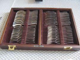 Wilkens Augsburger Faden 127-tlg Silberbesteck -: Kleinanzeigen aus Rudersberg - Rubrik Geschirr und Besteck
