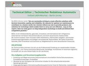 Technical Editor Technischer Redakteur Automotiv