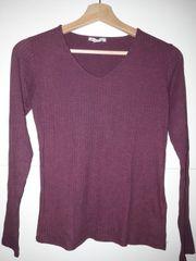 Leichter Pullover mit V-Ausschnitt Gr