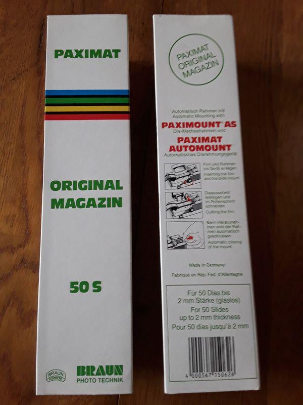 Diamagazin Original Braun Paximat 50 oder 50 S mit Deckel