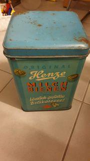 Antike Blechdose - Milchbonbons- Henze Milchbienen
