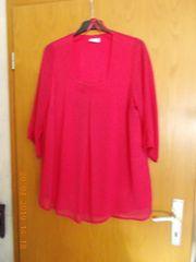 Bluse in pink mit quadratischem