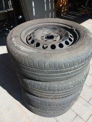 4x original VW-Stahlfelgen 15 Zoll