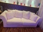 Gemütliche Couch hell Federkern