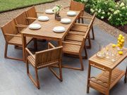 Gartenmöbel Set Akazienholz 8-Sitzer SASSARI neu