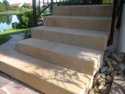 Blockstufen Sandstein gelb - Naturstein Stufen