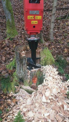Baumstumpffräse Wurzelstockfräse Erdbohrer Kegelspalter Bagger: Kleinanzeigen aus Sickte - Rubrik Nutzfahrzeug-Teile, Zubehör