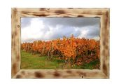 Holzbilderrahmen geflämmt mit Fotografie Weinberg