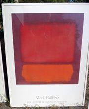 Mark Rothko Kunstdruck gerahmt 90