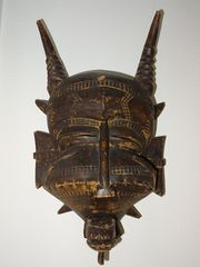 Afrikanische Kunst Maske sehr alt