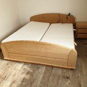 Schlafzimmer Fichte komplett mit Matratzen
