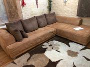 XXL Sofa mit Kissen Schlaffunkton