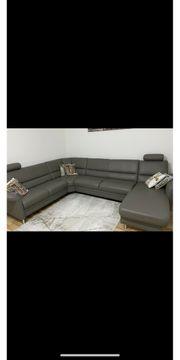Ecksofa mit Stauraum Couch Wohnlandschaft