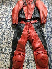 Harro Lederkombi rot schwarz gebraucht