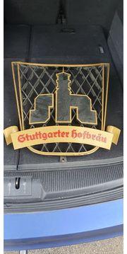 Stuttgarter Hofbräu Eisen Reklame Alt